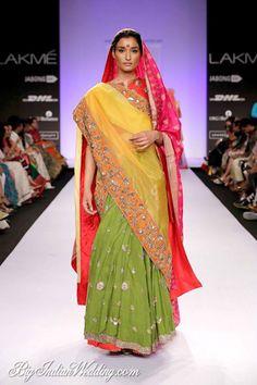 Gaurang multi-coloured lehenga