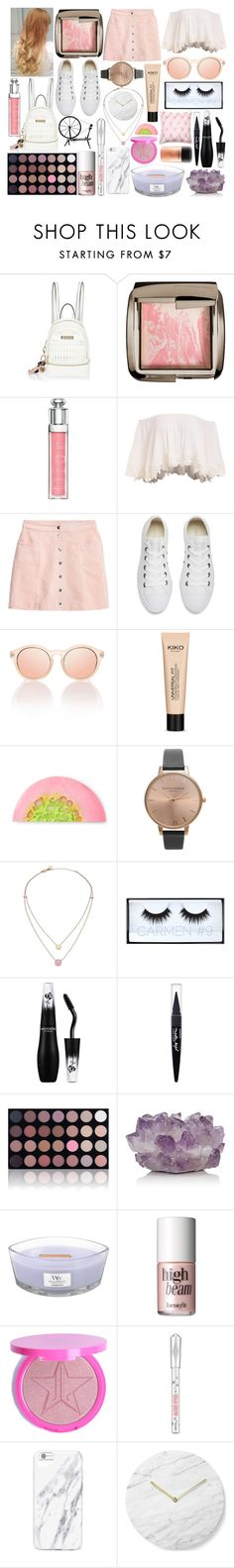 """Modern Aurora"" by gigi-rose113 on Polyvore featuring River Island, Hourglass Cosmetics, Christian Dior, Converse, Olivia Burton, Michael Kors, Huda Beauty, Lancôme, Maybelline and Shany"