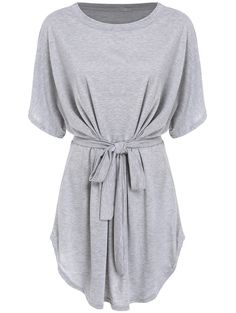 Online shopping for Short Sleeve Self-Tie Dolman Dress from a great selection of women's fashion clothing & more at MakeMeChic.COM.