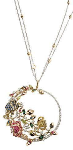 Damiani flourish pendant