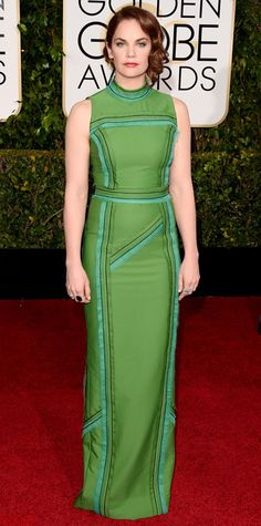 Golden Globes 2015: Red Carpet Arrivals - Ruth Wilson in Prada from #InStyle