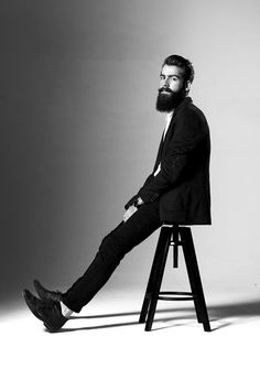 BEARDREVERED Black on Black beard tumblr fashion men