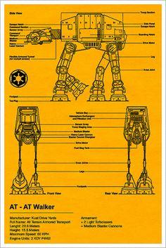 AT-AT Walker Blueprint - Star Wars
