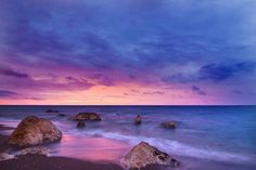 Sunset Beach Art Print by NewburyBoutique - X-Small Sunset Images, Beach Images, Beach Photos, Sunset Pictures, Sky Images, Sunset Pics, Sunset Beach, Ocean Beach, Naturaleza