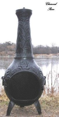 Rose Chiminea Outdoor Fireplace.  I love roses