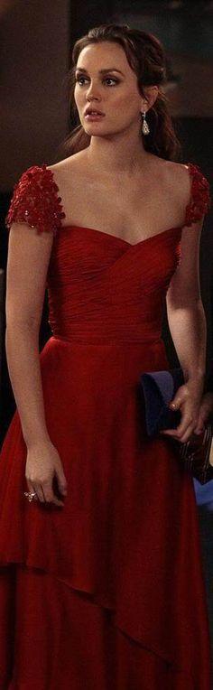 lovely in red #dress Gossip Girl fashion. Blair Waldorf #blair_waldorf_red