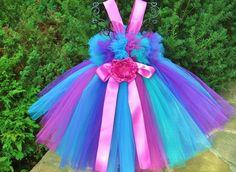 Petti Tutu Dress TINY PINK on WHITE Baby 012 Months by ElsaSieron