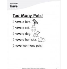 Too Many Pets! (Sight Word 'have'): Super Sight Words Poem