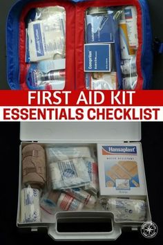 First Aid Kit Essentials Checklist - I have had several messages asking how to build a good first aid kit on the cheap, we all know we can buy the ready made kits for just over 100 bucks but why do that when you can make your own at a fraction of the price! #firstaid #firstaidkit #diyfirstaidkit