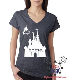 Disney Is My Home Ladies T-Shirt Deep Heather by BehindTheMouse