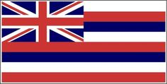 Hawai'i State Flag: Originally represented the independent kingdom of Hawaii and designed at the request of King Kamehameha I in 1896. The British Union Jack is in the upper left hand corner. The flag consists of eight horizontal stripes (alternately white, red, and blue). A similar flag was presented to the King by a British army officer in 1793.
