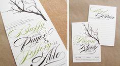 earthy wedding decor | Branch Twine Wedding Invitations RSVP 500x277 Buffy + Jeffs Twine ...