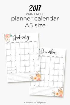22 Best Free Printable Year-at-a-glance Calendars images