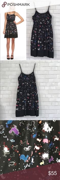 Erin Fetherstone Bunnies flare Dress size 7 So cute 🐇 and perfect Easter dress   Size 7, runs more like a 6, side zipper, no belt. 100% polyester shell, lining is 100% cotton, no stretch.   Ⓜ️cheat 34 Ⓜ️waist 32 Ⓜ️length 35  ✅Bundle and save  ✅🚭 ✅ all reasonable offers will be considered 🚫No Trading 🙅🏻 Poshmark rules only‼️ erin fetherston for target Dresses