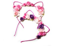 Check out our ariana grande selection for the very best in unique or custom, handmade pieces from our shops. Cat Ears Headband, Head Wrap Headband, Headband Hair, Ariana Grande Concert, Flower Crown, Flower Hair, Festival Wear, Hair Bows, Headbands