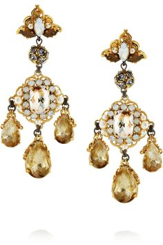 Erickson Beamon Swarovski Earrings