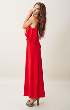 Red Summer Maxi Dresses #summer