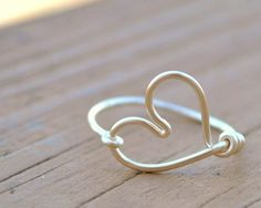 Valentine Wire Ring HEART Love Romance Non by LorisWireJewelry
