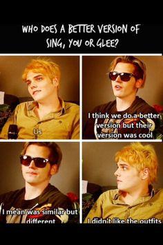 My thoughts exactly Gerard it wasnt punk enough it was just...weird