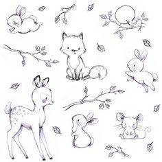 478 vind-ik-leuks, 14 reacties - Illustrator & muralist (@aidazamorailustracion) op Instagram: 'Buenas noches bellos y bellas!  #childrensillustration #bunny #pattern #sketchoftheday…'