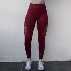 Compression Fit Legging with Mesh Detail. - High Waist Fit - Full Length Legging - Tighter Fit for Extra Support Seamless Leggings, Workout Leggings, Tights, Colours, Pants, Fashion, Navy Tights, Trouser Pants, Moda