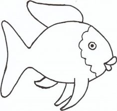 the rainbow fish template - Can use this for a Quiet book page, where different colored felt circles can be placed onto the body of the fish.