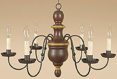 Country Chandelier. Nice look for a Farmhouse Dining Room.