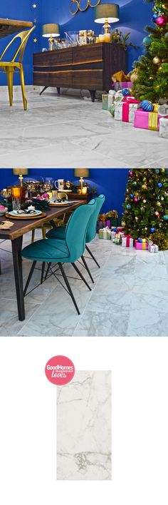 These shimmering Brouille White Marble Effect Polished Tiles allow to inject a luxurious natural scheme into the wall or floor spaces throughout your home. Ideal Home Show, Marble Effect, White Backdrop, Marble Tiles, Outdoor Furniture Sets, Outdoor Decor, House And Home Magazine, Christmas 2017, House Rooms
