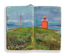 """Text in bottom left reads, """"I could have gone back and I thought about it several times, but I wanted it to be ours, to associate this lighthouse with you, so I never did."""""""
