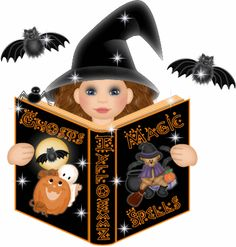 Halloween little witch Noche Halloween, Fröhliches Halloween, Halloween Images, Halloween Cards, Holidays Halloween, Halloween Themes, Halloween Decorations, Gifs, Seasonal Image
