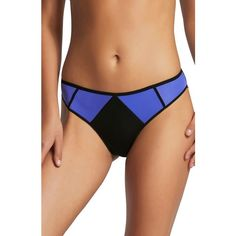 Women's Elle Macpherson Body Vee Bikini (€35) ❤ liked on Polyvore featuring swimwear, bikinis, dazzling blue, colorblock bikini, colour block bikini, sporty swimwear, color block bikini and color block swimwear