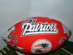 Miniature Red New England Patriots Football by TexasArtsyGals, $5.00
