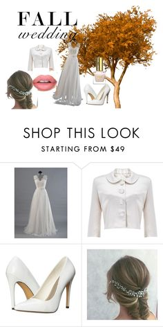 """""""Fall Wedding"""" by jamroxoxo on Polyvore featuring moda, Phase Eight, Michael Antonio, Sephora Collection, Fall, dress, autumn i weddnig"""