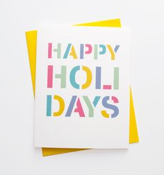 Holiday Stencil Christmas Card
