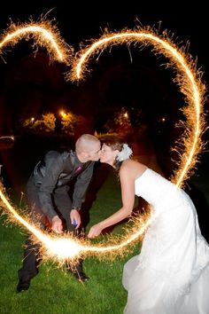 Long exposure with sparklers! Cute!