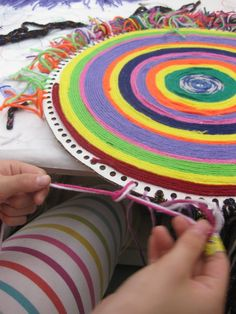 Yarn art circles: Sensory/motor explorations in color and form  (Via Fire When Ready Pottery blogpost)