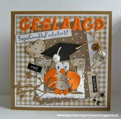Geslaagd - Card by Yvonne with among others Collectables Family Owl Alphabet and Eline's Tab with Text (NL) by Marianne Design Envelope Box, Owl Card, Marianne Design, Graduation Cards, Punch Art, Metal Crafts, Diy Scrapbook, Diy Cards, Cardmaking