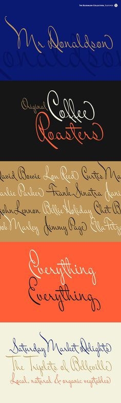 The Charles Bluemlein Script Collection is an intriguing reminder of the heady days of hand lettering and calligraphy in the United States. From the early 1930s through World War II, there were about 200 professional hand letterers working in New York City alone. This occupation saw its demise with the advent of photo lettering, and after digital typography, became virtually extinct. The odd way in which the Bluemlein scripts were assembled and created... Work In New York, Script Typeface, Extinct, Scripts, 1930s, Advent, Hand Lettering, Reflection, Typography