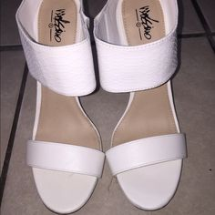 new white heels great condition Mossimo Supply Co Shoes Heels