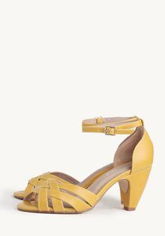 super cute bridesmaid shoe -- Nirvana Yellow Heels By Chelsea Crew at ShopRuche.com (also on ideeli today!!)
