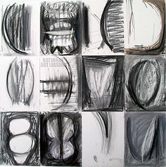 """""""Untitled in 12 Parts,"""" mixed media artwork by Ginny Sykes. From Chicago Art Leasing: http://chicagoartleasing.com/painting-detail.php?id=2312&artist=101"""