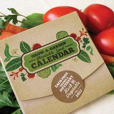 Grow-A-Garden Plantable Seed Calendar 2013 - NOW 35% off!!