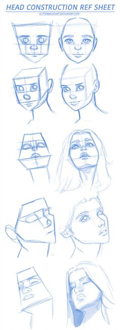 Head Construction Ref Sheet by AshantiArt on DeviantArt tips angles How To Draw Lips by wysoka on DeviantArt Art Drawings Sketches Simple, Pencil Art Drawings, Drawing Tips, Eye Drawings, Sketches To Draw, Realistic Drawings, Drawing Techniques, Female Face Drawing, Drawing Faces
