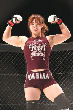 Powerful rin nakai - muscular japanese female cage fighter