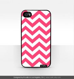 Pink Chevron iPhone Case Fits iPhone 4 & 4S by CRAFIC on Etsy. $15.99, via Etsy.