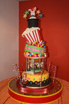CIRCUS CAKE by CAKES Variedades Dalila, via Flickr