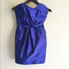Royal Blue Cocktail Dress Blue cocktail dress with belt. Alexia Admor Dresses Strapless