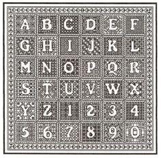 Blackwork Alphabet