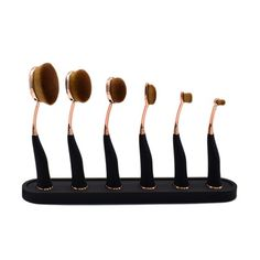 Grosshandels Angebot: Makeup Pinsel Flow Brush Oval Set 6 Teile mit Magnet Halterung Geeignet für den professionellen Einsatz wie auch für zu Hause Neu und ungebraucht Vom Blenden zum... Glamour Party, Auto Gif, Party Set, Make Up, Pink, Brushes, Magnets, Black, Beauty Makeup