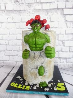 Hulk Smash Run!! - http://cakesdecor.com/cakes/290983-hulk-smash-run